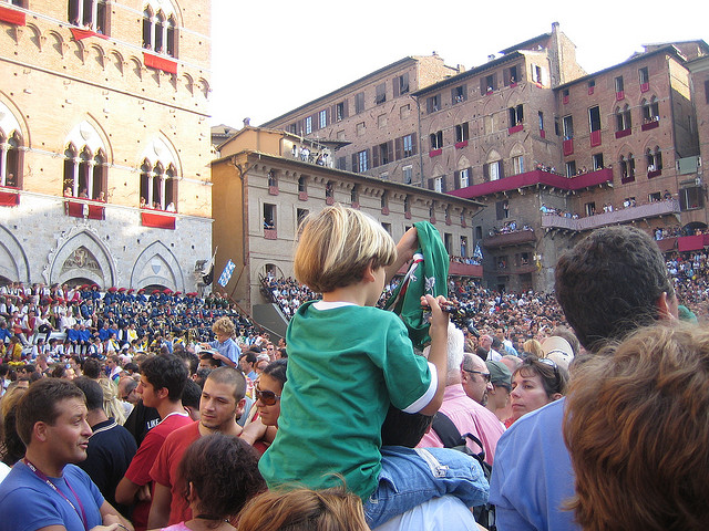 Palio Siena. PhotoCC License by Malcom Moore