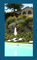 Swimming Pool of the romantic Farmhouse Taverna di Bibbiano Tuscany Siena San Gimignano