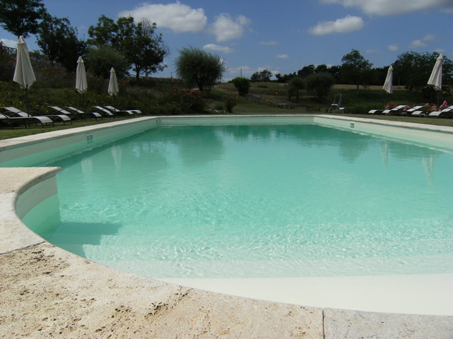 Panoramic Swimming Pool of the romantic Farmhouse Taverna di Bibbiano in San Gimignano